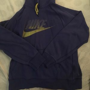 Blue nike hoodie